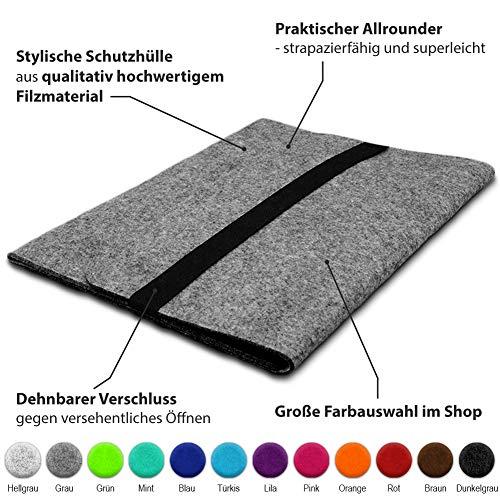 Schutzhülle kompatibel für Lenovo ThinkPad T14 Filz Tasche Sleeve Hülle Laptop Cover Notebook Case 14 Zoll, Farbe:Grau