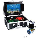 Fish Finders Portable, 12 PCS Infrared LED Lamps Caméra vidéo sous-Marine + 7 Pouces Moniteur de Couleur pour Kayak Sea Boat Ice Fishing, avec câble,30m