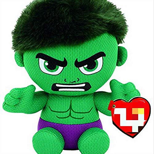 FGBV Homedecor Suave Juguete Super Hero Series Iron-Man Spider-Man Hulk Black Panther Peluche Toy Juguete Niños Regalo 15 cm Manmiao