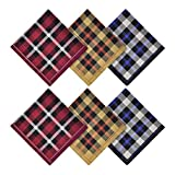 Soft Cotton Handkerchief for Men, 100% Pure Cotton Hankies, Plaid, Gift Set