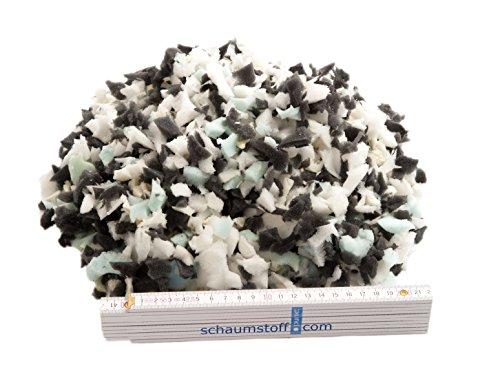 Unbekannt Schaumstoffflocken Flocken Füllmaterial aus Schaumstoff für Kissen und Polster, Kg:10 Kg