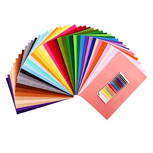 SOLEDI - Filzbasteln für Kinder in 20 * 30cm 41 Farben Schwer, Größe 41 Farbe-20cm*30cm
