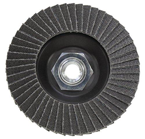 KGS Hybrid T diamond flap disc 4.5 inch x 5/8 inch-11 Metal Thread Adapter (Grit 120 (black))