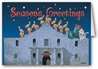 The Alamo, San Antonio Texas Christmas Card- 18 Holiday Cards & Envelopes