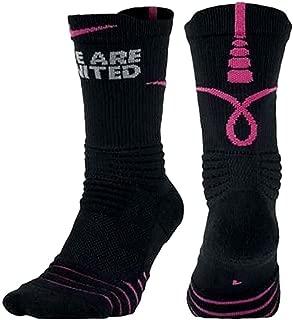 Women's Elite Versatility Static Basketball Crew Socks Kay Yow Size S
