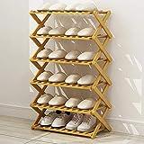 Hisunny Natürliche Bambus Schuhregal Bambus Schuhregal Organizer Multifunktionale Lagerung Regal...