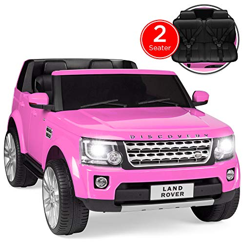 Best Choice Products 12V 3.7 MPH 2-Seater Licensed Land Rover Ride On w/ Parent Remote Control, MP3 Player - Pink