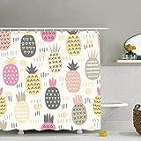 N / A Diversi sfondi astratti di Ananas Textures Ananas Cibo e Bevande Tessuto Arredo bagno Set con ganci