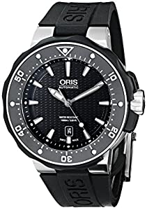 Oris Men's 73376827154RS Divers Analog Display Swiss Automatic Black Watch Prices and Online and review