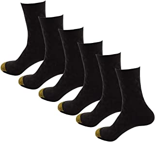HOEREV Men's Bamboo Fibre Breathable Daily Socks, Pack of 6