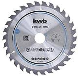 kwb 588257 Plaque de particules pour scie circulaire Bois dur 216 x 30 mm Coupe nette Nombre moyen 30 dents Z-30 Lame CleanCut Moyenne 216 x 30 mm