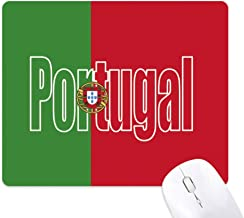 DIYthinker Portugal Country Flag Name Mouse Pad Non-Slip Rubber Mousepad Game Office