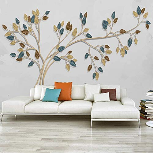 Papel pintado mural imagen 3D Papel tapiz mural personalizado árbol creativo moderno líneas doradas en relieve dormitorio sala de estar sofá TV Fondo papeles de pared decoración del hogar