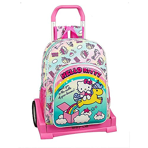 Hello Kitty Candy Unicorns Mochila con Carro Ruedas Evolution, Trolley
