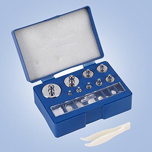 17 Piezas Peso de Calibracion Peso de laboratorio Prueba Peso Kit para Escala Digital Joyas,Laboratorio General y Uso Educativo Plata