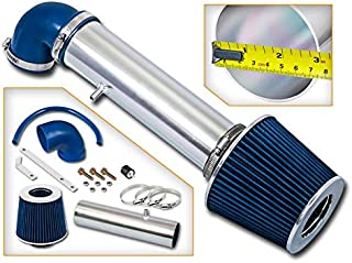 Rtunes Racing Short Ram Air Intake Kit + Filter Combo BLUE Compatible For 97-04 Jeep Cherokee/Grand Cherokee/LaREDo V6 …