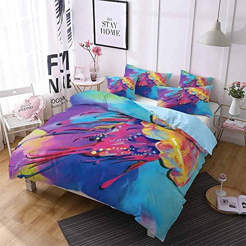 Smile Bettbezug Bettwäsche, Hai Quallen Unterwasserwelt Kindereinzelbett Extra großes Doppelbett...