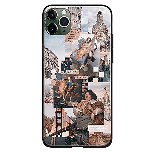 Barroque Art - Funda para iPhone (cristal templado brillante, para iPhone 6/6S)