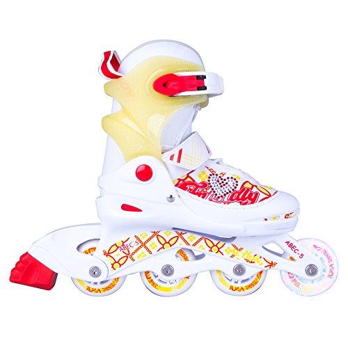 WORKER Kinder Inliner Action Joly Inline-Skates mit leuchtenden Rollen, verstellbar (S 30-33)