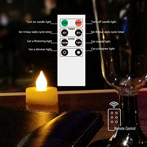"""Waterproof Outdoor Flameless LED Candles - with Remote and Timer Realistic Flickering Battery Operated Electric Plastic Resin Pillar Candles for Christmas Decoration 3-Pack 3""""x6"""""""