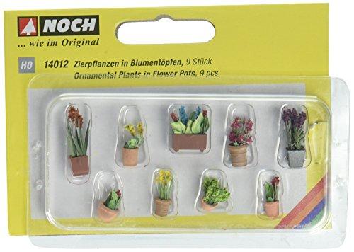 H0 1:87 Plantes décoratives dans les petites Pots de fleurs NOCH 14012