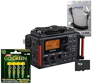 Tascam DR-60D MKII Recorder, Bundle w/BeachTek SC35 3.5mm Cable, and 16GB Card