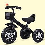 Triciclos Triciclo trike niños ciclismo triciclo, piezas de equitación de niños coches de alimentación ligera carro de bebé, trinquete de pedal antideslizante, bicicleta de entrenamiento con neumático
