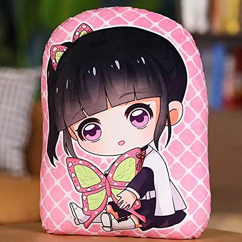 35 cm Anime Ghost Slayer Peripherie Puerta Cocina Doble dimensional Ghost Chaser Peluche Peluche Almohada Juguetes Regalo Cojín Cojín Cojín Cojín Colgante Nuevo Decorativo Chanel (con Muñeca)