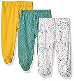 Spasilk Baby 3 Pack Cotton Footed Pants, Green Rainforest, 3 Months rain pants Oct, 2020