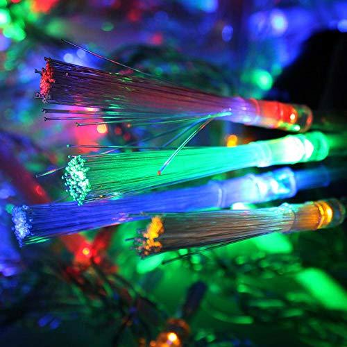 33FT Fiber Optic Fairy String Lights 60 LED Starburst Firework Light for Indoor Outdoor Wedding, Christmas Tree, Garden, Patio, Party Decoration (Multi-Color)
