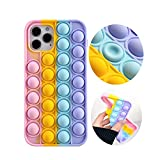 Push Sensory Fidget Case with iPhone 11 Case 6.1 inch,Fidget Toys Phone Silicon CaseToys for Girls Boys Men Woman Adults,Push Bubble Soft Silicone Pop Shockproof Protecive Case for iPhone