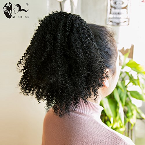 Synthetic Hair Afro Puff Ponytail Extensions for Black Women Kinky Curly Drawstring Hair Ponytail Hairpieces Natural...