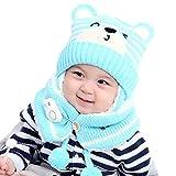 Naduew - Gorro de invierno para bebé, gorro de invierno con orejeras para bebés, niñas y niños