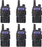 6 Pack Nicama Baofeng UV-5R Dual Band Two Way Radio, Walkie Talkie with 1800mAh Li-ion Battery