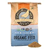 Scratch and Peck Feeds Naturally Free 16% Organic Layer Feed for Chickens and Ducks - 40-lbs - Non-GMO Project Verified, Soy Free and Corn Free - 2004-40