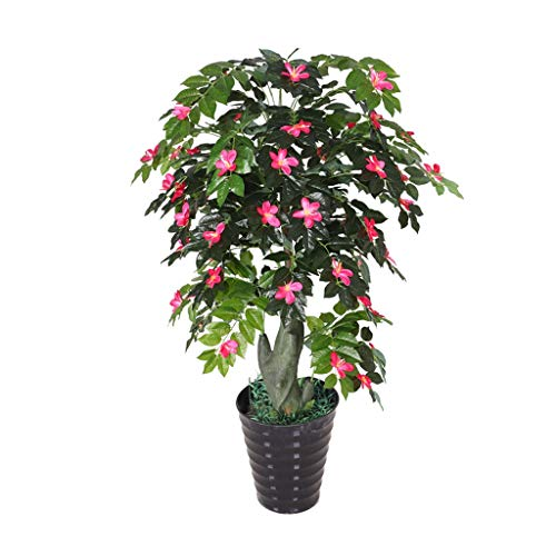 LOMJK 150cm Artificial de la Azalea árbol Bonsai Menaje Flores Falsas Plantas Falsas Falso de plástico árbol Plantas Verdor (tamaño : 150cm)