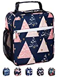 Leakproof Insulated Reusable Cooler Lunch Bag - Durable Compact Office Work School Lunch Box with...