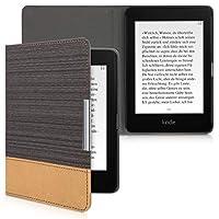 kwmobile 対応: Amazon Kindle Paperwhite (10. Gen - 2018) ケース - キャンバス 電子書籍カバー - オートスリープ reader 保護ケース