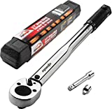 EPAuto 1/2-inch Drive Click Torque Wrench, 10~150 ft./lb, 13.6~203.5 N/m
