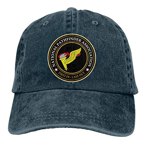 Abkola US Army Badge Pathfinder Denim Hats Cowboy Hats Dad Hat