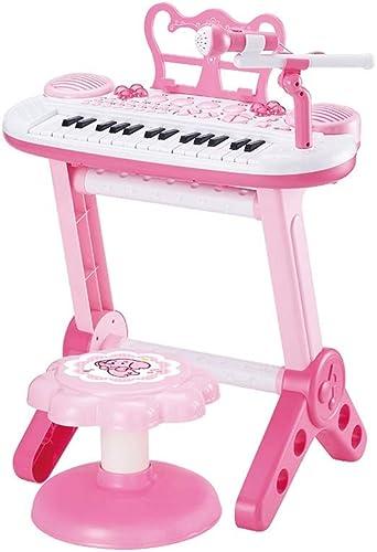 HXGL-Clavier Clavier pour Enfants Petite Fille Au Piano La Musique Peut être AliHommestée 3-6 Ans Cadeau De Débutant Puzzle éducation Précoce (Couleur   Rose)