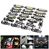 WE-WIN - Lote de 23 luces LED para interior de coche, para BMW X5 E53 2000-2006, color blanco