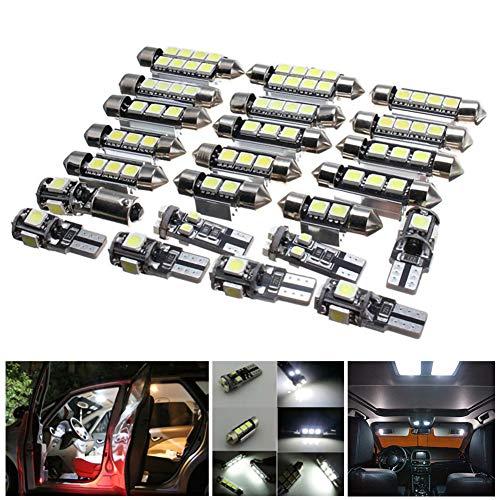 WE-WIN - Set di 23 Lampadine LED per Auto, per BMW X5 E53 2000-2006, Colore: Bianco