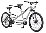 Schwinn Twinn Tandem Bicycle, Featuring Low Step-Through and Lightweight Aluminum Frame with Mechanical Disc Brakes, 26-Inch Wheels,...