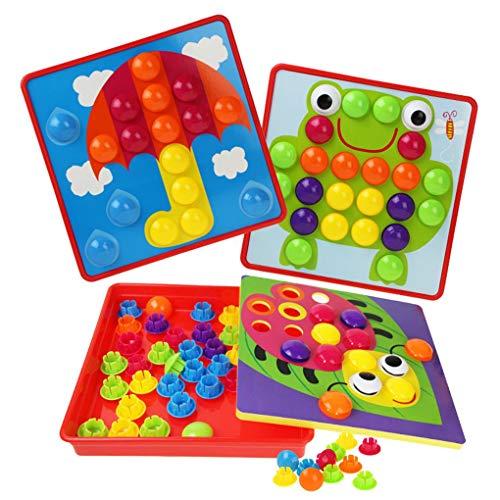 Floridivy Kids invoegen Puzzels Toy Children Cartoon Ontwerp Paddestoel Nails Puzzles Board educatief speelgoed