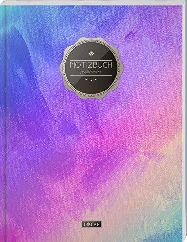 """TULPE Punktraster Notizbuch A4 """"C053 Leinwand"""" (140+ Seiten, Vintage Softcover, Punktkariertes Papier - Bullet Journal, Dickes Notizheft, Skizzenbuch, Tagebuch, Gepunktete Seiten, Dot Grid Notebook)"""