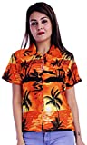 Virgin Crafts Funny Hawaiian Shirts for Women Button Down Blouse Beach Party