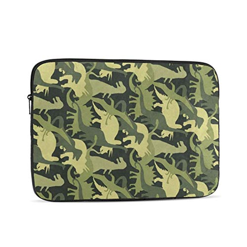 15.6 Inch Laptop Sleeve Camouflage Army Dinosaur Green Laptop Protective Case Cover Cute 14in 15in Computer Padded Carrying Bag for Women Men Kids Tablet Notebook Ultrabook Briefcase