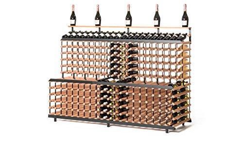 RAXI™ Vinothek - Botellero de madera de haya con diseño de lujo, ideal para presentar tu vino o vinothek, 360 botellas