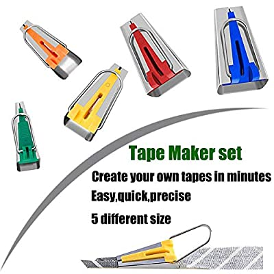 HONEYSEW Bias Tape Maker Set 6MM/9MM/12MM/18MM/25MM 50MM 6 Sizes DIY Quilting Tools Kit